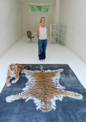 vloerschildering tijger