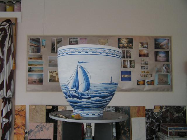 Delftsblauw schildering