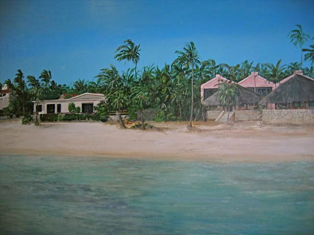 Muurschildering Curacau te Almere
