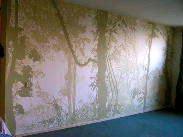 Jungle Slaapkamer : Oerwoud schildering in woon en slaapkamer te ...