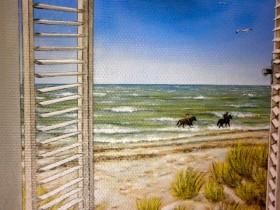 Hotel All Seasons: schildering uitzicht op strand