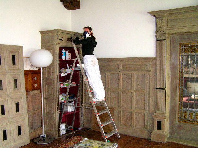 Vergrijzing van echt hout het geheim van de smith - Decoratie van trappenhuis ...
