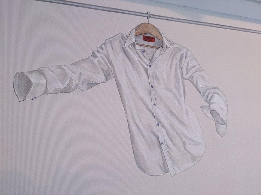 """Muurschildering in de wasserette van """"De Campus"""" te Diemen"""