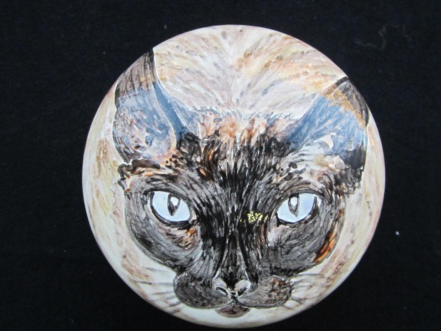 Beschilderde Urn van keramiek