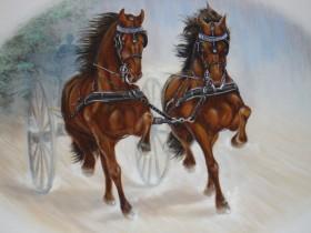 muurschildering-paarden2